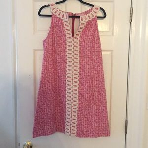 Lilly Pulitzer Pink Embroidered dress size 12
